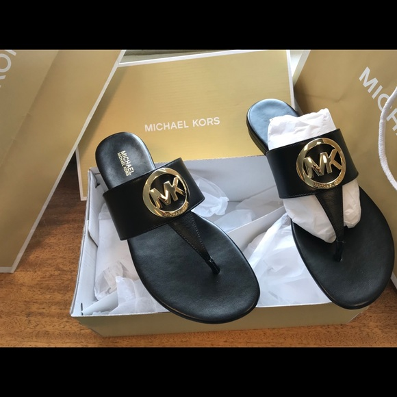 747671acfe9 New Michael Kors Racquel Sandals MK Slides Shoes